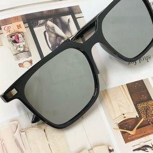 Grey Lens Polarized Mirrored Squared Sunglasses